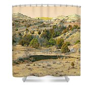 Realm Of Golden West Dakota Shower Curtain