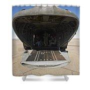 Rear Platform Of A Ch-47 Chinook Shower Curtain