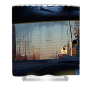 Rear View 2 - The Places I Have Been Shower Curtain