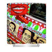 Rear View Mirror Of The Car-nola Shower Curtain