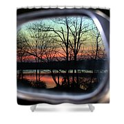 Rearview Mirror Shower Curtain