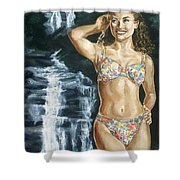 Rebecca Gayheart Shower Curtain