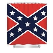 Rebel Flag Shower Curtain