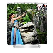 Rebel Stand Shower Curtain