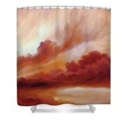 Receding Storm Sketch IIi Shower Curtain