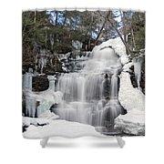 Receding Winter Ice At Ganoga Falls Shower Curtain