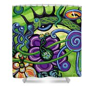Reciprocal Liason Of The Sea II Shower Curtain by Genevieve Esson