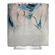 Reclining Female Nude Shower Curtain
