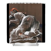 Reclining Figure With Skirt Shower Curtain