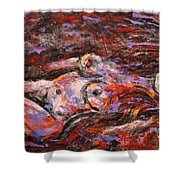 Reclining Nude Shower Curtain