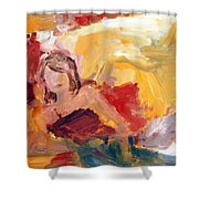 Reclining Woman Shower Curtain