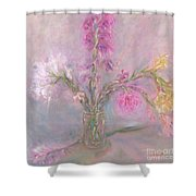 Recollection Of The Dreamy Bloom Shower Curtain