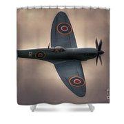Reconnaissance Spitfire Pl965r Mkxi Shower Curtain