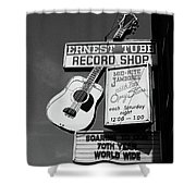 Record Shop- By Linda Woods Shower Curtain