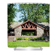 Recreation Shelter In Forest Park Shower Curtain