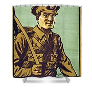 Recruitment Poster Follow Me Your Country Needs You Shower Curtain