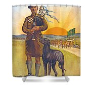Recruitment Poster The Call To Arms Irishmen Dont You Hear It Shower Curtain