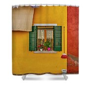 Rectangle Iterations Broom And Laundry Burano_dsc5134_03042017 Shower Curtain