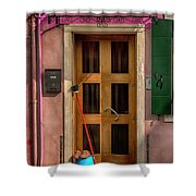 Rectangle Iterations Door Broom And Bucket_dsc5127_03042017 Shower Curtain