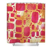 Rectangles And Jangles Shower Curtain