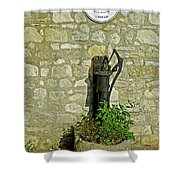Rectory Mansion And Hand Pump - Brading Shower Curtain