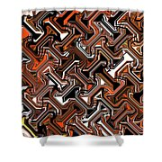 Recurring Pattern Abstract Shower Curtain