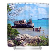 Recycled In Grenada Shower Curtain