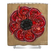 Recycled Poppy Shower Curtain