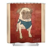 Recycled Pug Shower Curtain