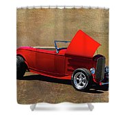 Red 1932 Ford Hot Rod  Shower Curtain