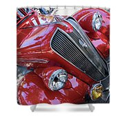 Red 1938 Plymouth Shower Curtain