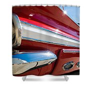 Red 1960 Chevy Low Rider Shower Curtain