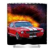Red 1966 Mustang Fastback Shower Curtain