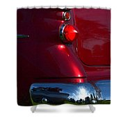 Red 50's Classic Tail Light Shower Curtain