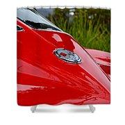 Red 63 Vette Shower Curtain
