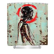 Red 7 Shower Curtain