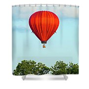 Red Above The Trees Shower Curtain