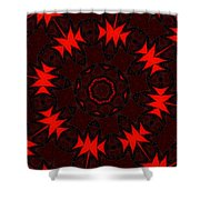 Red Abstract 031211 Shower Curtain