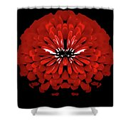 Red Abstract Flower One Shower Curtain