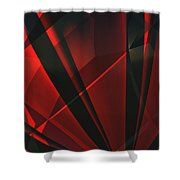 Red Abstractum Shower Curtain