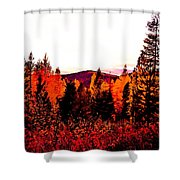 Red   Adventure  Shower Curtain