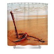 Red Anchor Shower Curtain