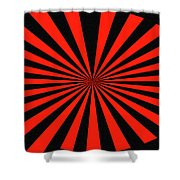 Red And Black Abstract #3 Shower Curtain