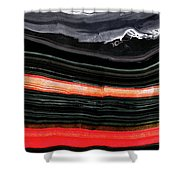 Red And Black Art - Fire Lines - Sharon Cummings Shower Curtain
