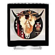 Red And Black Buffalo Design Shower Curtain