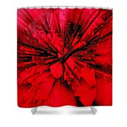 Red And Black Explosion Shower Curtain