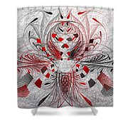 Red And Black -f E- Shower Curtain