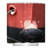 Red And Black Prow Shower Curtain