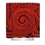 Red And Black Swirl - Modern/contemporary Painting Shower Curtain