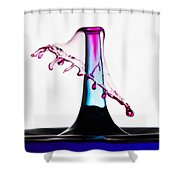 Red And Blue Collision Shower Curtain